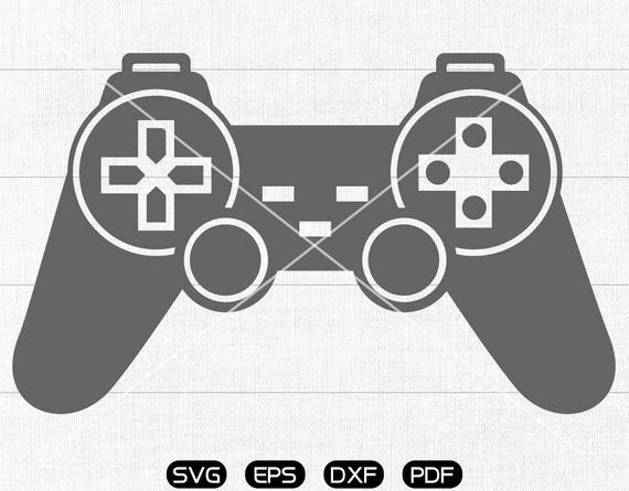 Video Game Controller Svg Gamepad Clipart Cricut Silhouette Etsy