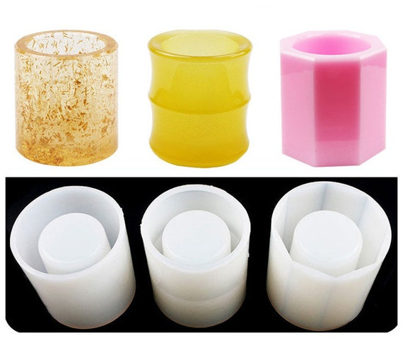 Penholder molds Glossy Container Penholder Silicon Mold Pen container brush pencil vase Resin Mold