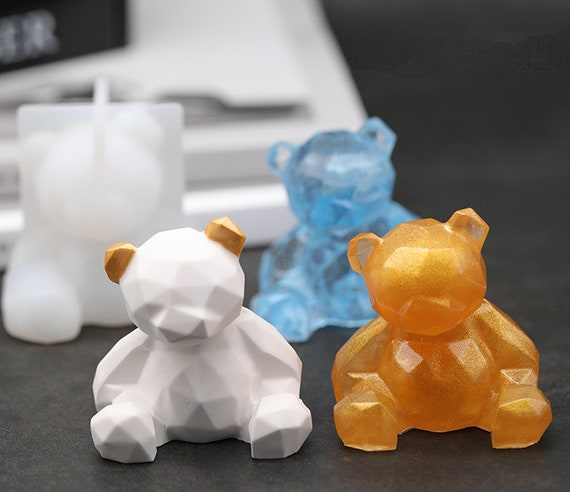 Lovely Teddy Bear Silicone Resin Mould Epoxy Resin Mold manual DIY Crafts Tool