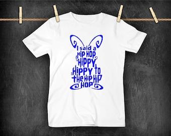 Hip Hop Bunny Kids Easter T shirt, Kids easter outfit, Easter shirt
