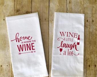 Wine kitchen towels set of 2