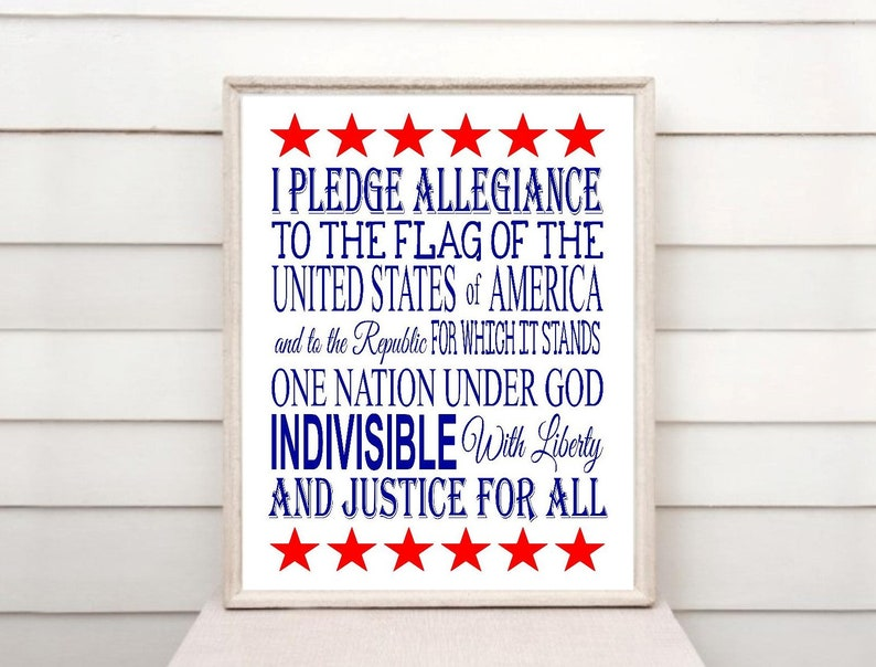 graphic about Pledge of Allegiance Printable referred to as Pledge of Allegiance printable obtain, patriotic decor, pledge of allegiance, 4th of july, Flexibility Working day, American decor, United states