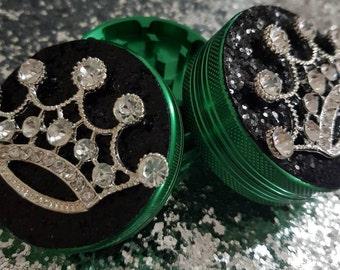 Customised Glitter Crown Herbal Grinder