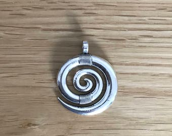 5 or 10 Tibetan silver Antique silver tone spiral pendant charms 35mm x 28mm
