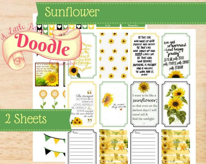 Sunflower Stickers | Big Happy Planner Stickers | Happy Planner Sticker | Big Planner Stickers | Create 365 Stickers | MAMBI Stickers