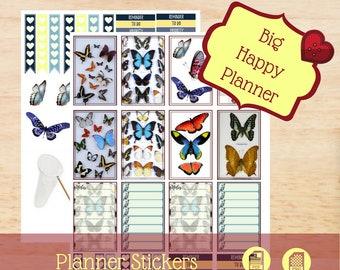 Mounted Butterflies   Big Happy Planner Stickers   Big Happy Planner   Create 365   MAMBI