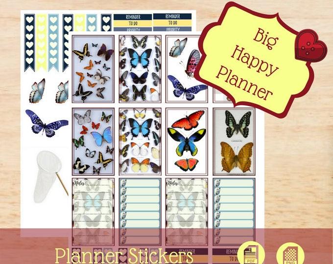 Mounted Butterflies | Big Happy Planner Stickers | Big Happy Planner | Create 365 | MAMBI