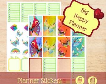 Rainbow Butterflies   Big Happy Planner Stickers   Big Happy Planner   Create 365   MAMBI