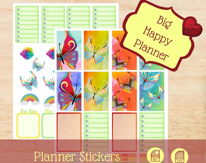 Rainbow Butterflies | Big Happy Planner Stickers | Big Happy Planner | Create 365 | MAMBI