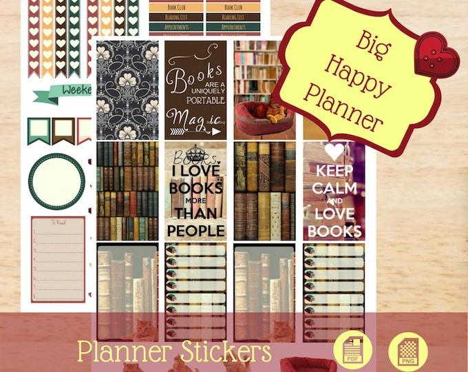 Book Worm Stickers | Big Happy Planner Stickers | Big Planner Stickers | Create 365 Stickers | MAMBI Stickers