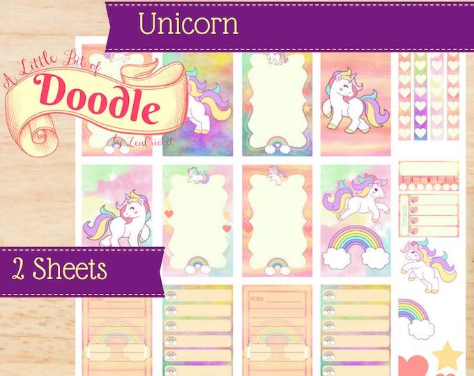 Unicorn Rainbow Stickers | Big Happy Planner Stickers | Big Happy Planner | Happy Planner Stickers | Create 365 Stickers | MAMBI Stickers