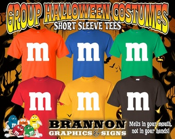 6ec390f08 Halloween Group Costumes / Group Costumes / M and M Candy / Halloween T  Shirts / M&M Halloween / M and M Candies Custom Group Costumes