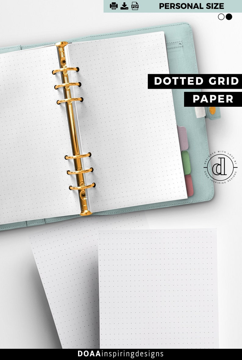 PERSONAL size dotted journal dot grid insert bullet journal image 0