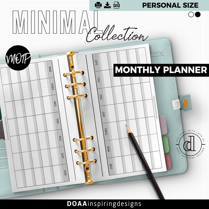 Personal size monthly planner 2020 image 0
