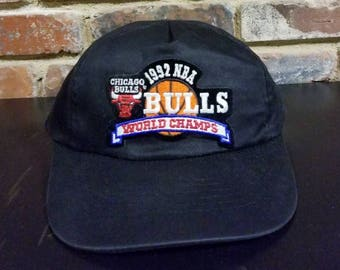 Vintage 1992 Chicago Bulls World Champs Snapback Hat