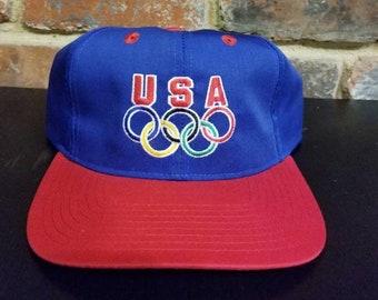 Vintage Olympic USA Snapback Hat