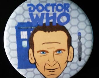 Doctor Who. Ninth Doctor. Custom 38mm Pin Badge.