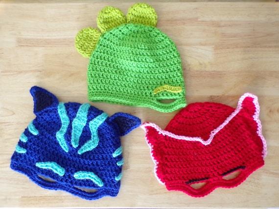 PATTERN ONLY PJ Masks Inspired Crochet Mask  bfdda9ae3c2
