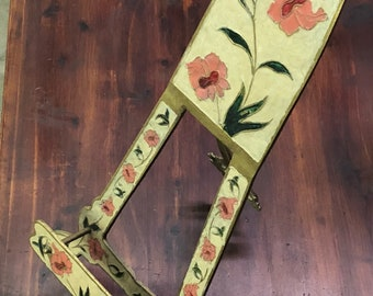 Very large lacquered brass easel