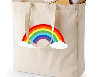 Gift Bag Rainbow Gift Bag Rainbow Teacher Gift flower girl best friend party favor bachelorette Name Tote Bag Rainbow Tote Bag Tote Bag