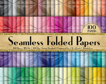 07ab5f4b3ed4 100 Seamless Folded Papers 12 inch 300 Dpi Instant Download Commercial Use