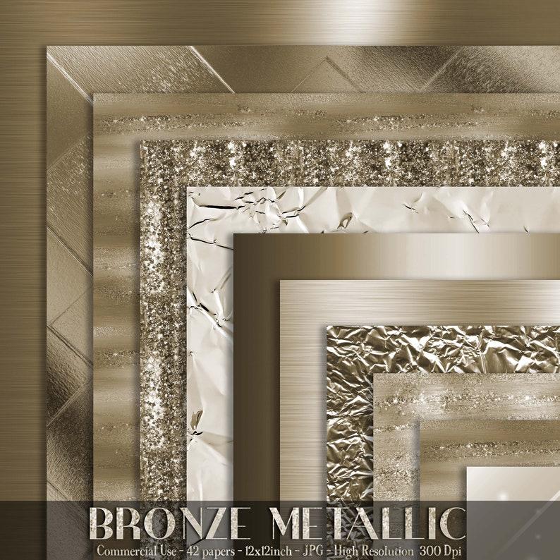 42 Bronze Metallic Papers 12 inch 300 Dpi Planner Paper image 0