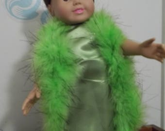 "18"" doll Lime green gown 380E"