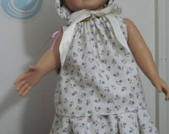 """18"""" doll Lilac and white Summer set 362E"""