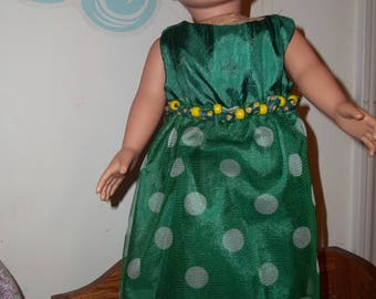 "18"" doll Green gown with tulle skirt 332E"