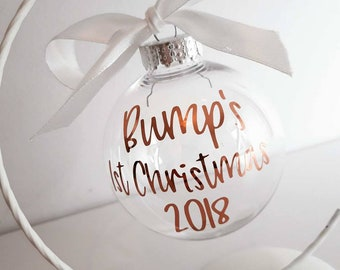 b159555431df6 Personalised Christmas Bauble - Bumps 1st Christmas - Keepsake - Mummy to  be - Tree Decoration - pregnancy gift - Mummy's 1st Christmas
