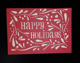 Happy Holidays, Christmas Card, Card, red, white, family, friends, love, Christmas