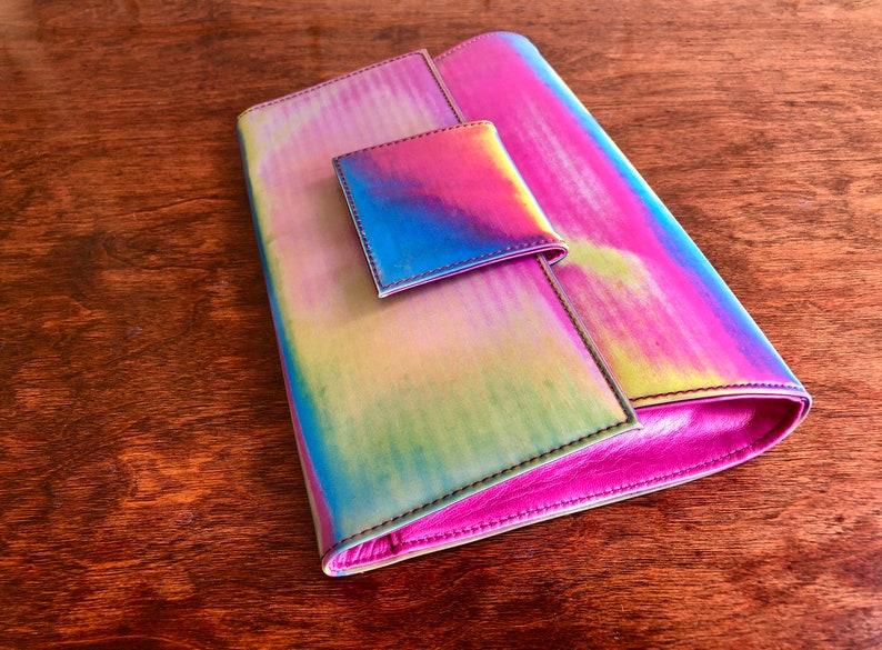 59999bab6f488 Jahrgang Casadei Regenbogen Leder Umschlag Clutch Handtasche
