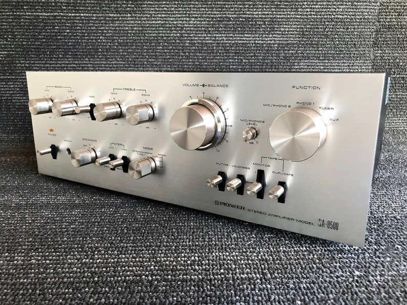 8308ba3ea6ba3 Vintage Pioneer Stereo Amplifier SA-8500 Integrated Stereo Amplifier Made  in Japan 1970s Powerful Well-Buit Classic!
