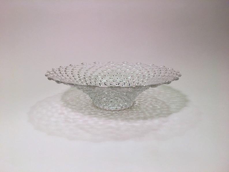 Vintage Flared Duncan - Miller Crystal Hobnail Pattern Bowl Pièce maîtresse