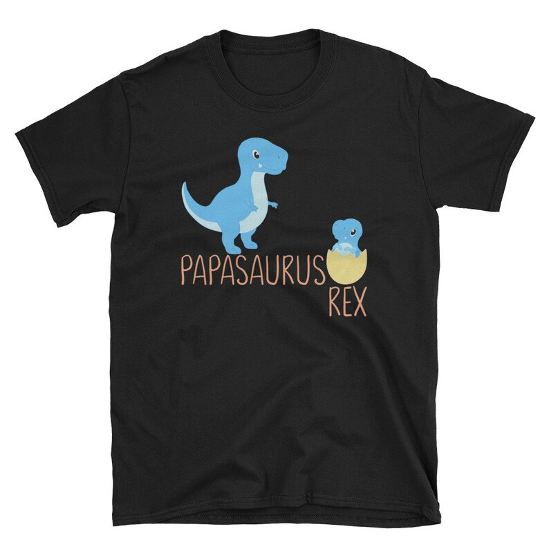 f62a19262 PapaSaurus Father T-Rex Fathers Day Gift Papasaurus Shirt | Etsy