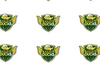 12x16mm oval shoelace charm Digital downloads (Augusta Ducks)