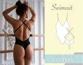 Swimsuit pattern xxs xs s m l xl xxl xxxl. Sewing pattern. Bikini pattern. PDF sewing patterns for women.