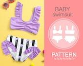Baby swimsuit pattern. Sewing pattern. Swimsuit pattern. PDF sewing patterns. Pattern Girl 39 s Swimsuit. Only digital pattern.