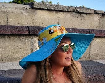 4362d0c5be6 Summer blue hat for women