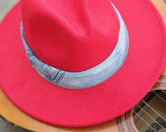 Red fedora hats for women 41e16f5e4ac