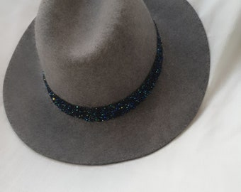 Gray designed fedora hat for woman 847f1a75725b