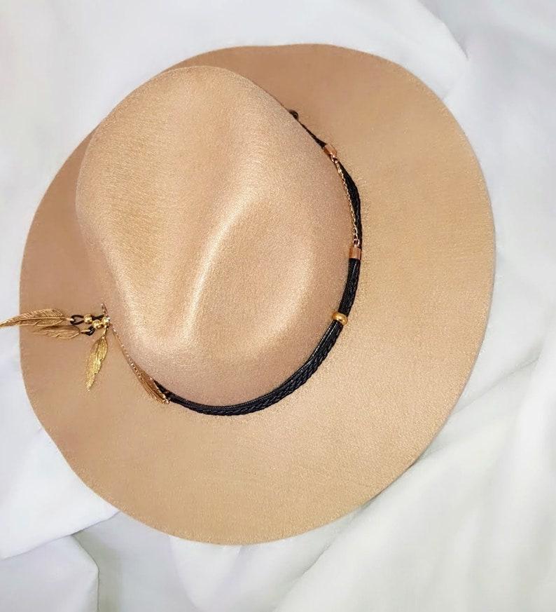 444e275c5130c Brown wide brim fedora hats for women Wool felt hat Bohemian