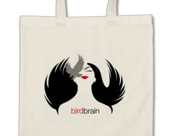 Birdbrain Logo Canvas Tote Bag