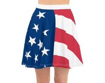 8a749ed08 American Flag Skirt Fourth of July Skater Skirt