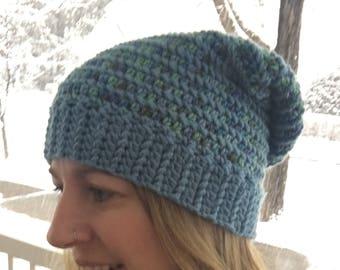 Blueridge Slouch | Crochet Hat | Winter Hat | Crochet Beanie | Crochet Slouch | Adult Hat | Teen Hat
