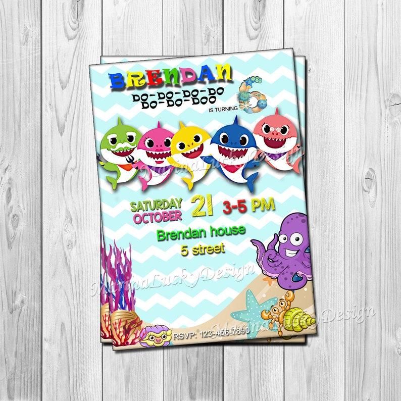 Shark Birthday Invitation Party Invite Mommy