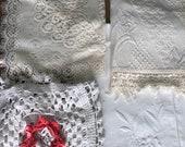 Vintage linen crochet bundle