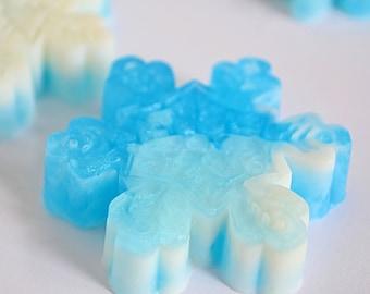 25 Snowflake Soap Favors Winter Wonderland Baby Shower Etsy