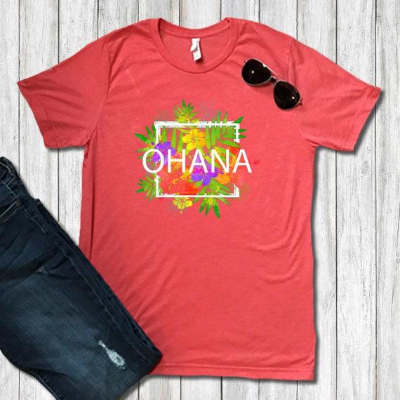 3ea4bc92 Ohana Means Family Aloha Beach Shirts Hawaiian Flower Aloha | Etsy