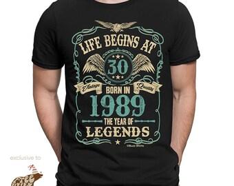 718570bb8 Life Begins at 30 Mens Birthday T-Shirt